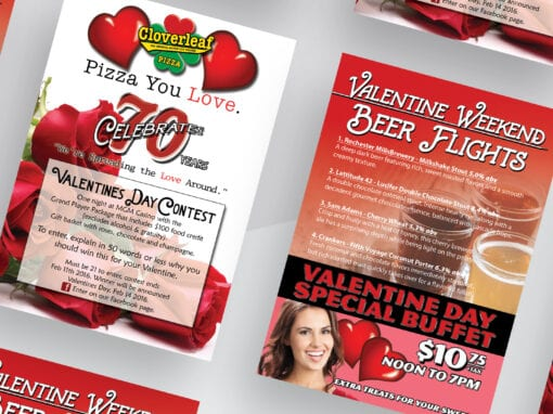 Cloverleaf Valentines Day Flyer and Design