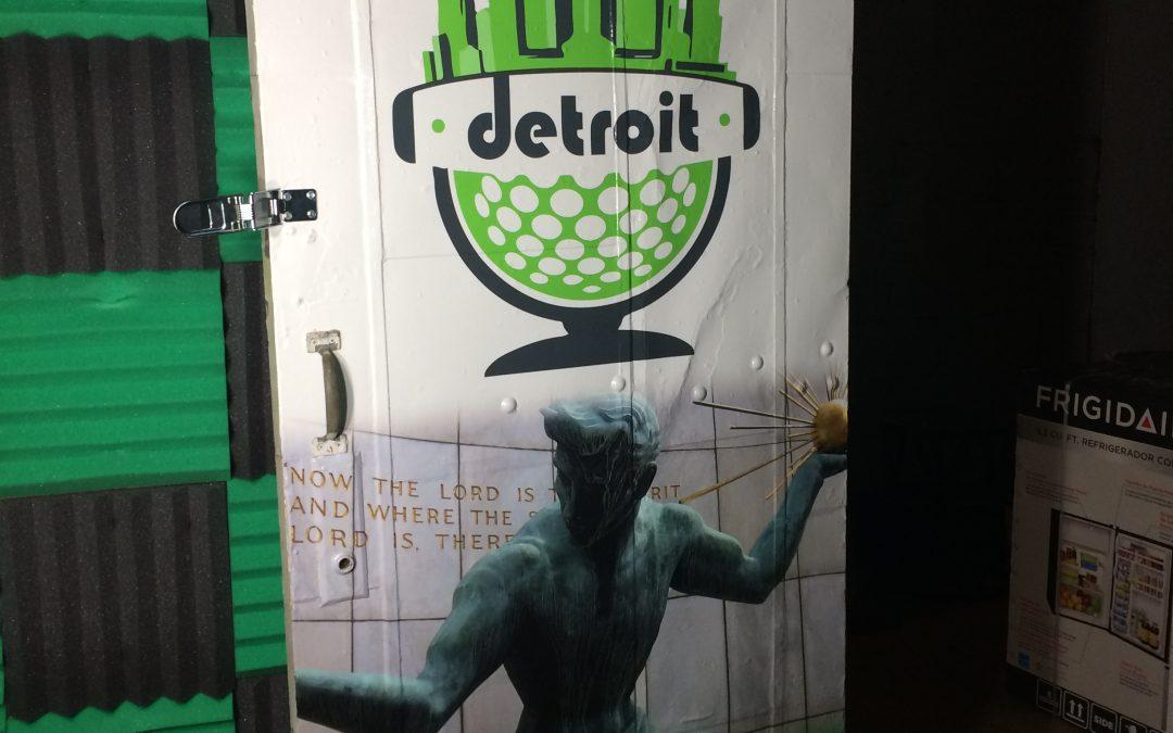 Podcast Detroit Door Wrap