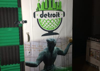 Podcast Detroit Door Wrap
