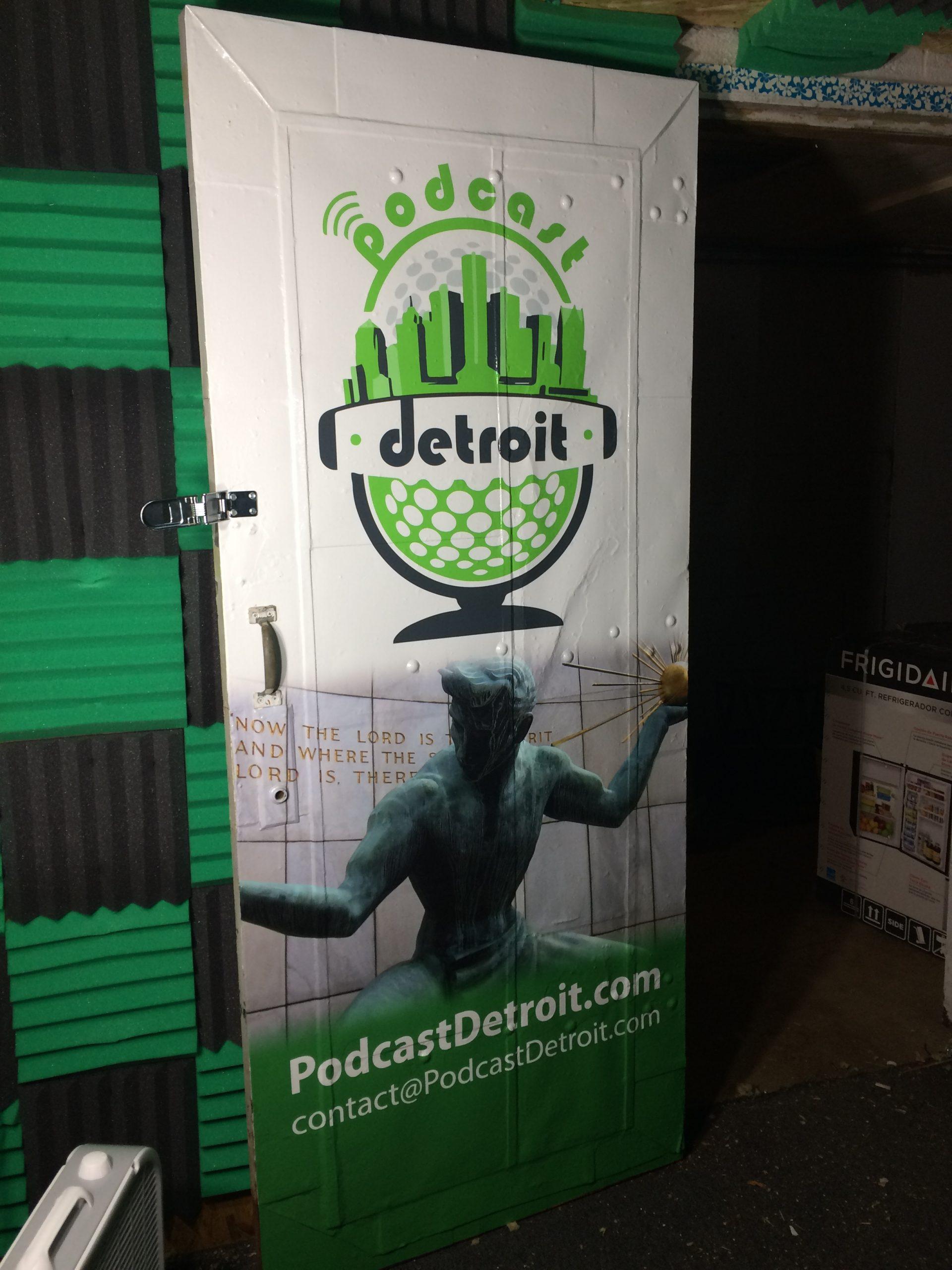Podcast Detroit Door Wrap - after