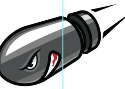 ICB Firearms Bullet Logo Concept 03