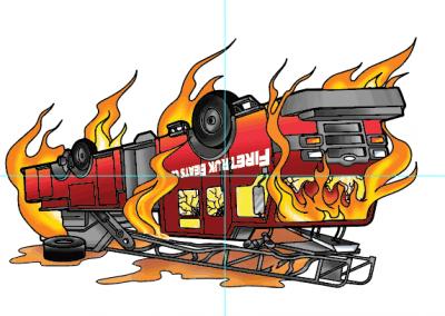 DJ Fireturk – Firetruck Album Art Design