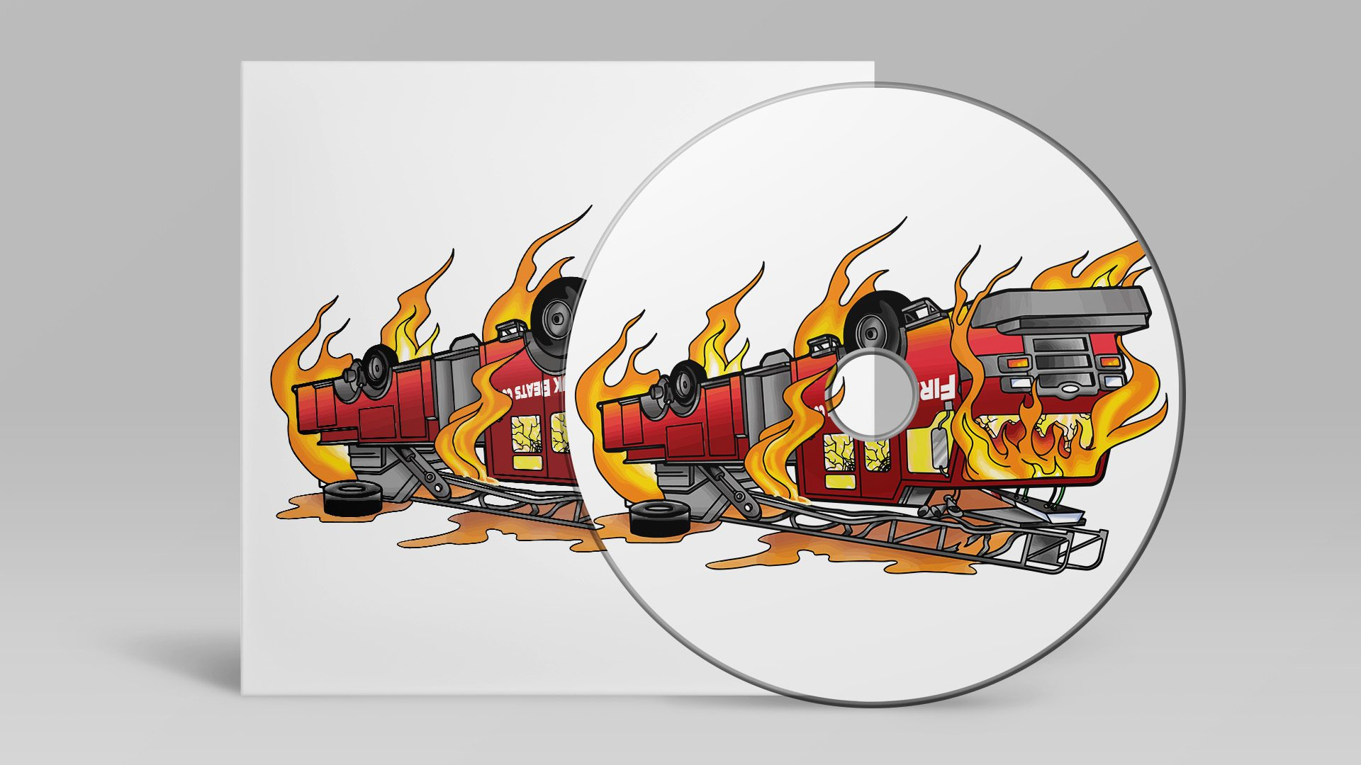 DJ Fireturk - Firetruck Album Art Design Mockup 01