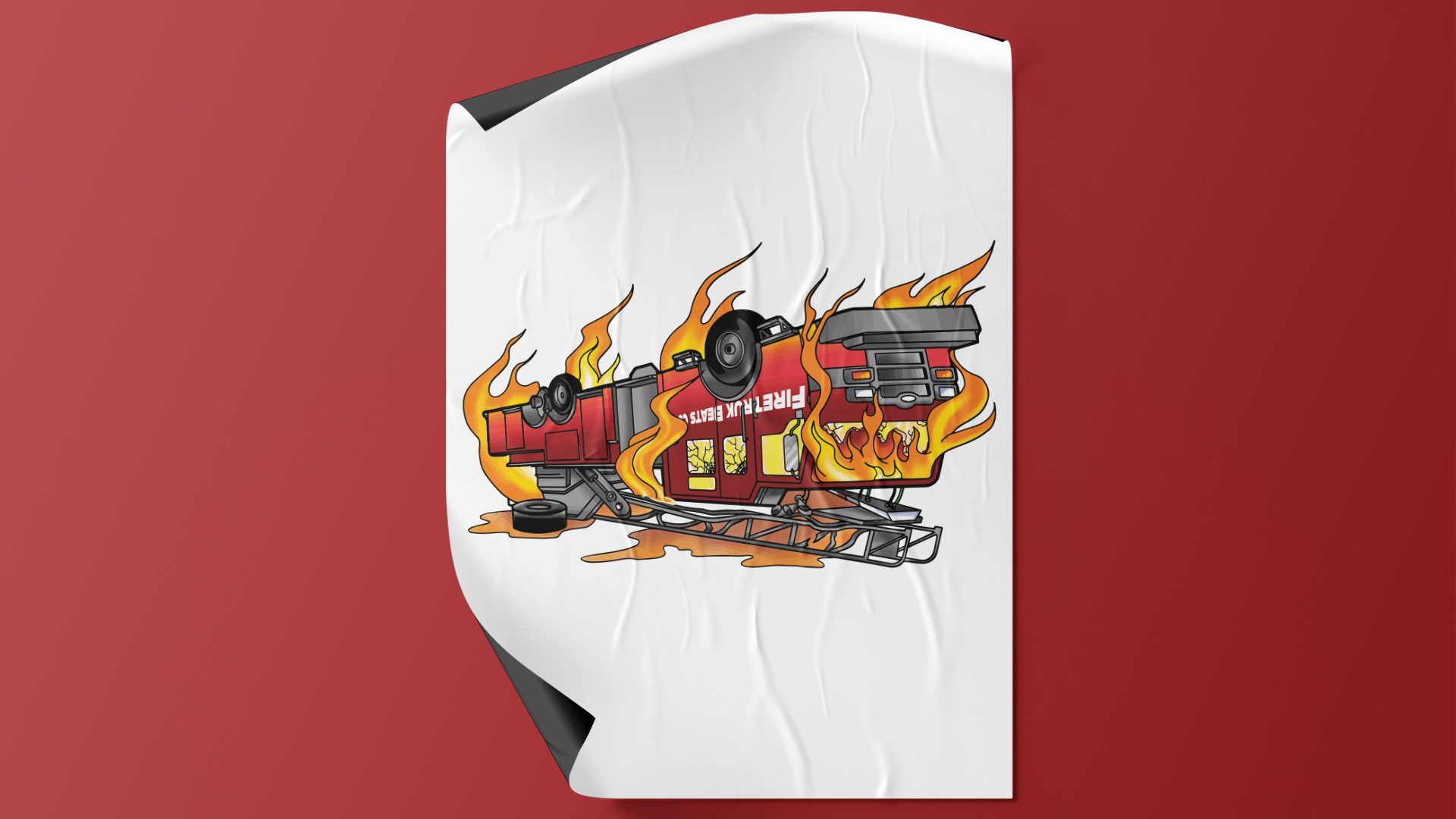 DJ Fireturk - Firetruck Album Art Design Mockup 04