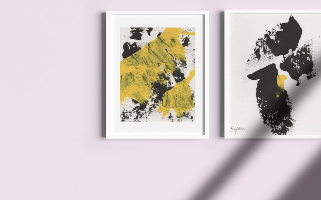 Emily Alber Art – Yellow and Black Series