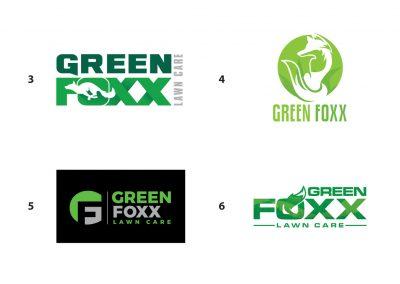 Green Foxx Lawn Care Logo - Concepts