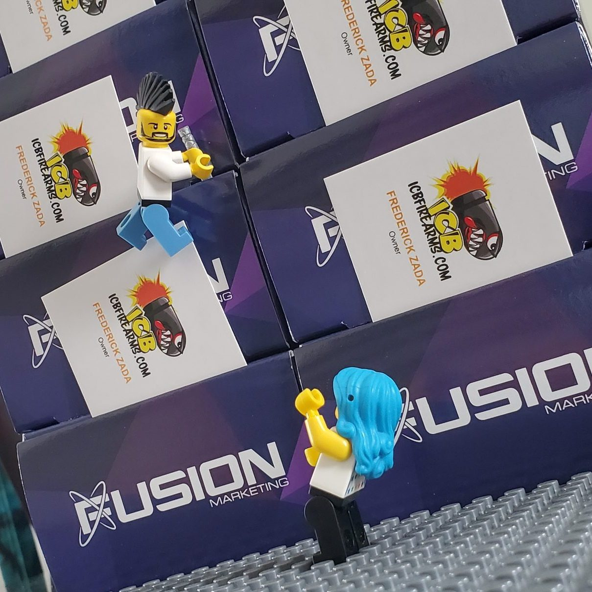 ICB Firearms - Business Cards Lego Photo 01