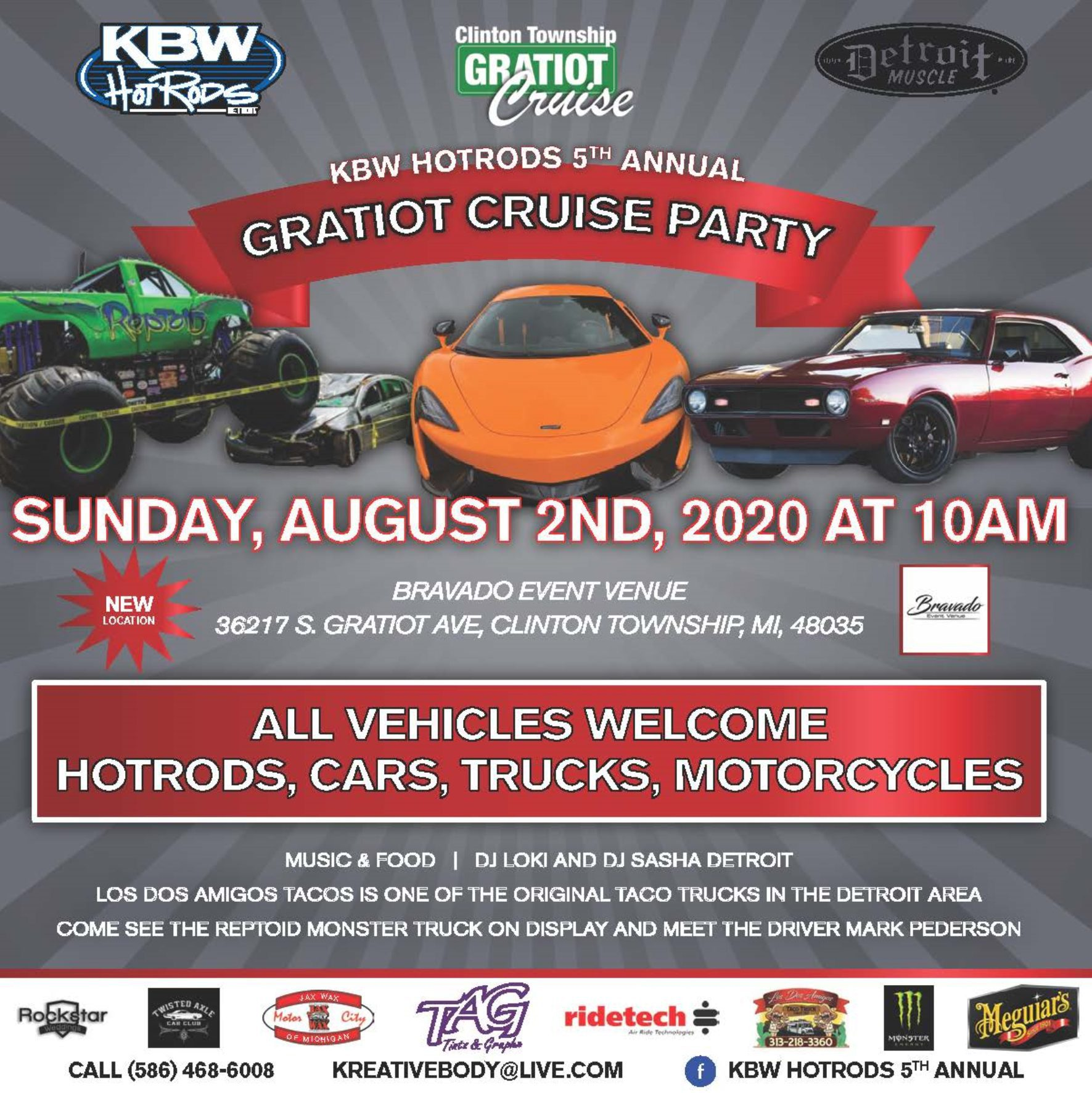 Kreative Body Werks - 2020 Gratiot Cruise Flyer