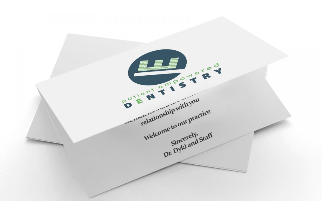 Patient Empowered Dentistry – New Patient Cards
