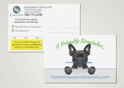Patient Empowered Dentistry - Reminder Postcard Mockup 01