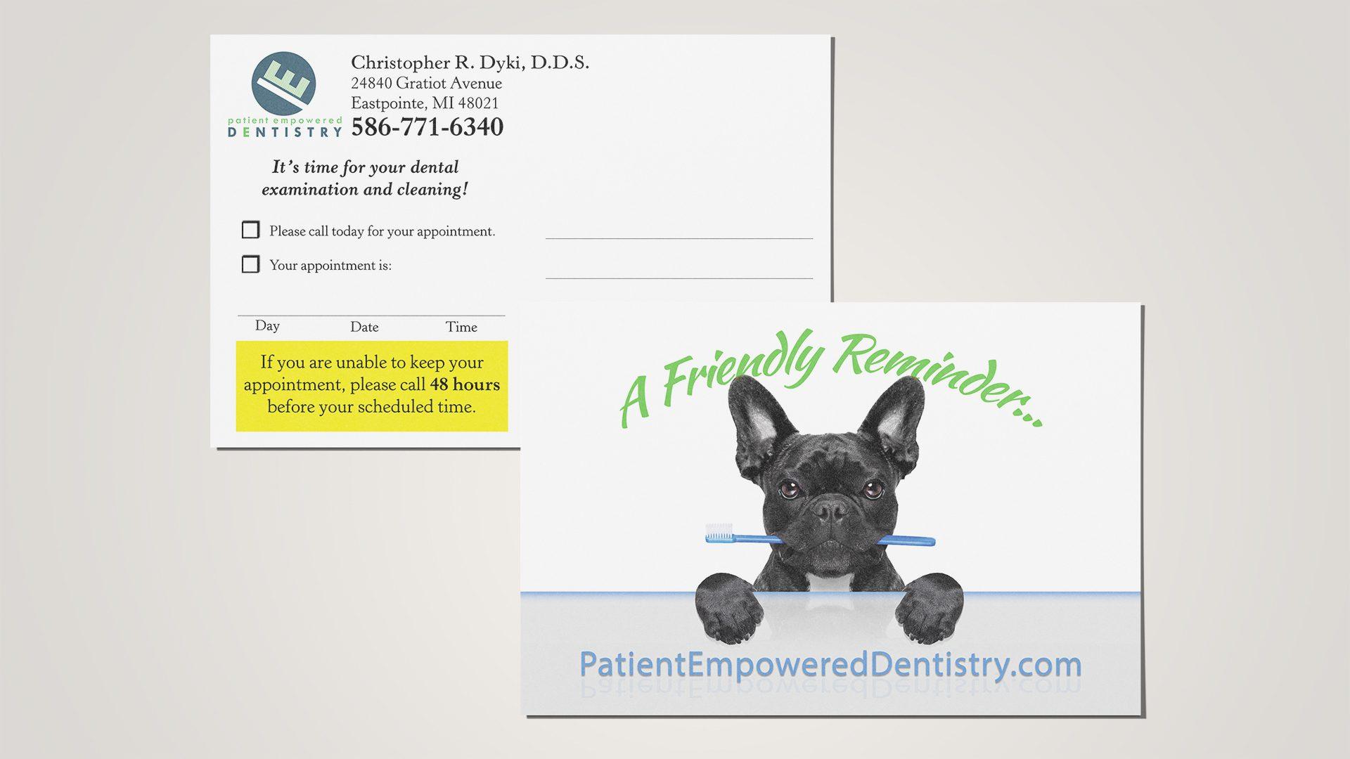 Patient Empowered Dentistry - Reminder Postcard Mockup 01