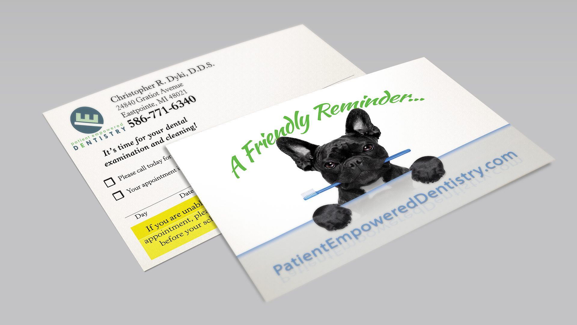 Patient Empowered Dentistry - Reminder Postcard Mockup 02