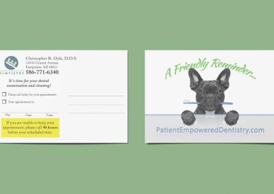 Patient Empowered Dentistry - Reminder Postcard Mockup 03