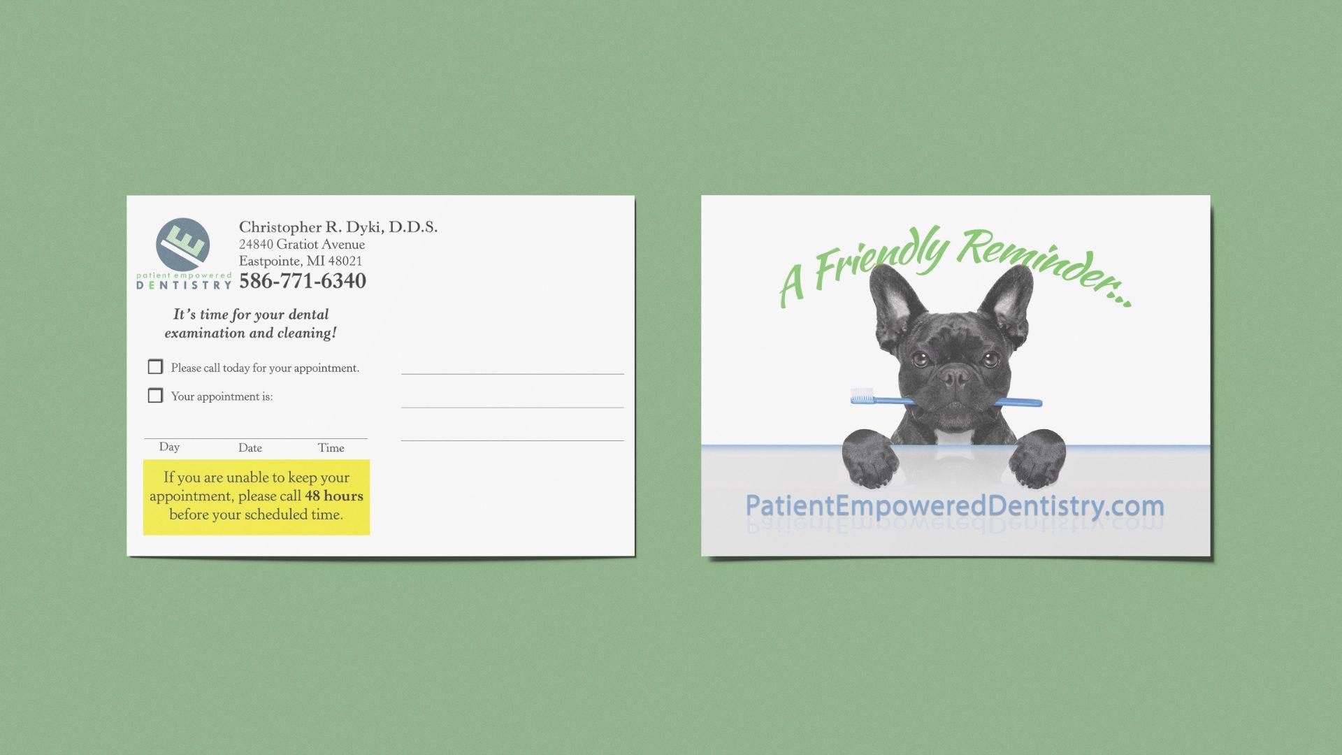 Patient Empowered Dentistry - Reminder Postcard Mockup 03