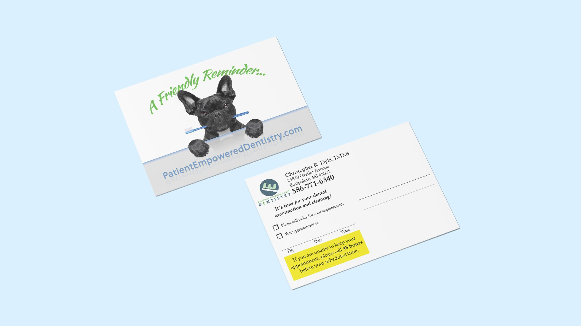 Patient Empowered Dentistry - Reminder Postcard Mockup 04