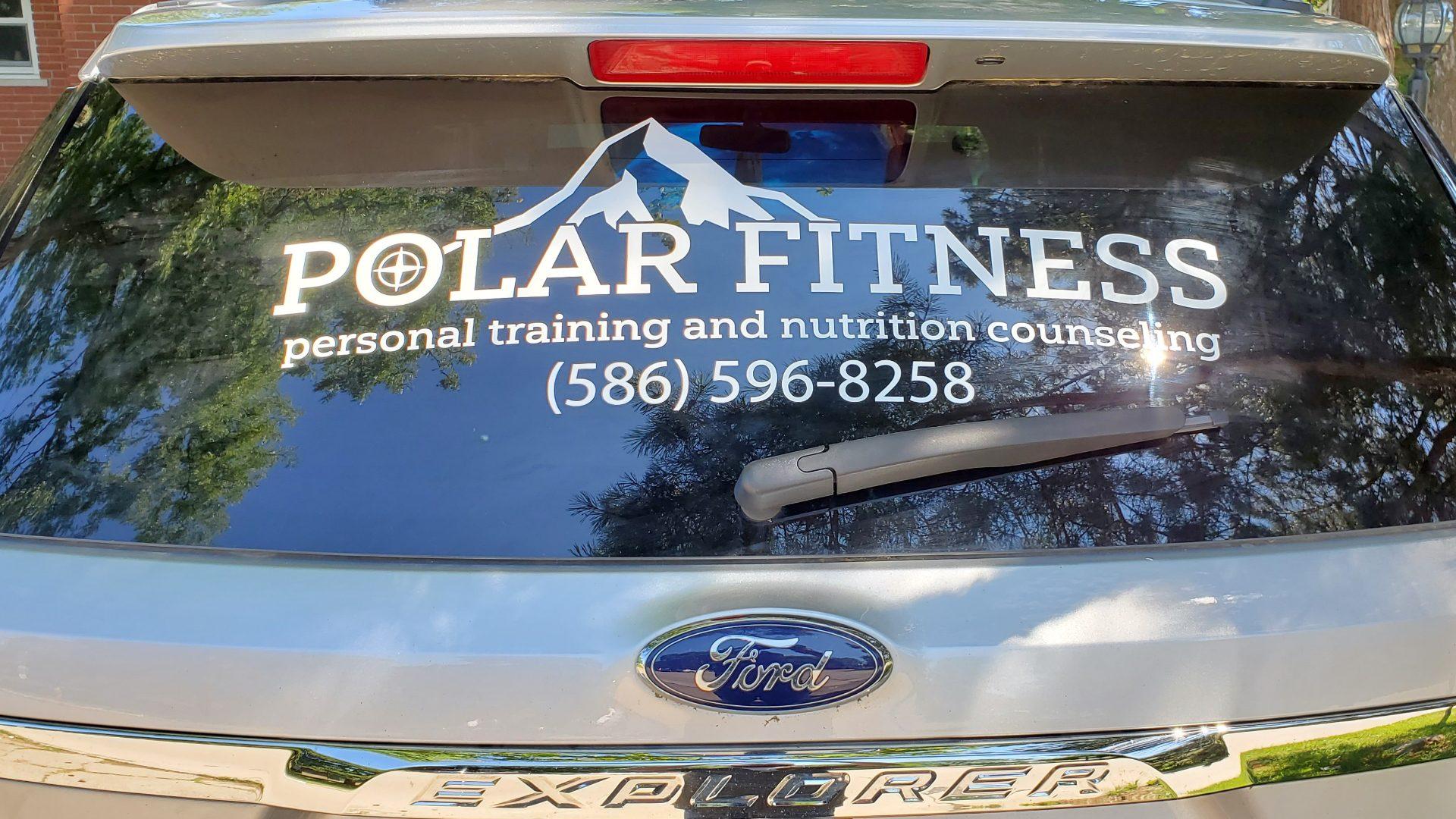 Polar Fitness - Ford Explorer Window Graphics 03