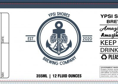 Ypsi Shores Brewing - 16 oz Can Label