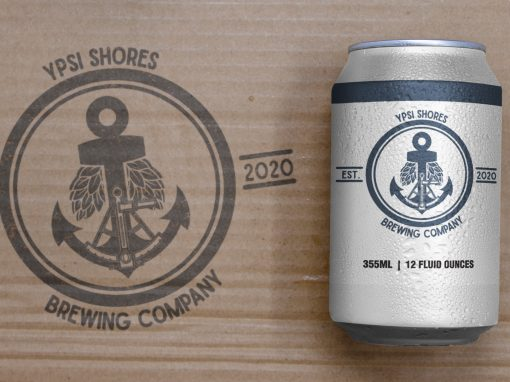 Ypsi Shores Brewing – 16 oz Can Design