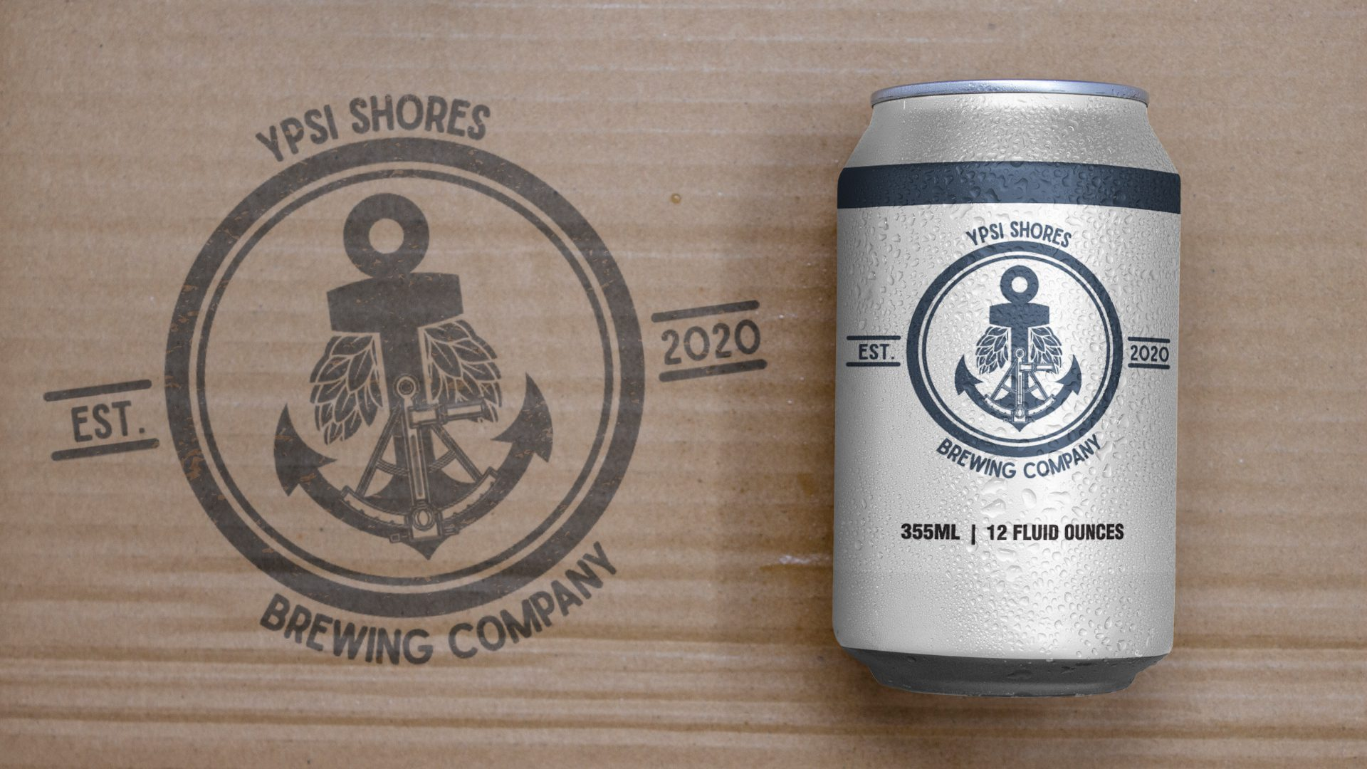 Ypsi Shores Brewing - 16 oz Can Label Mockup 01