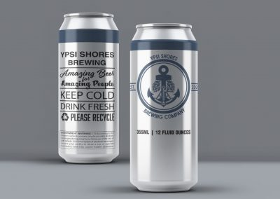 Ypsi Shores Brewing - 16 oz Can Label Mockup 02
