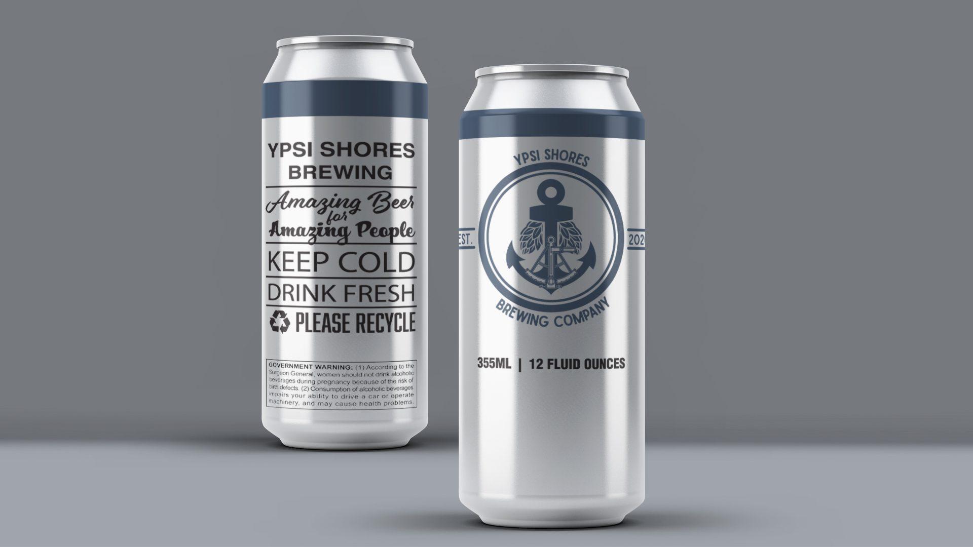 Ypsi Shores Brewing - 16 oz Can Label Mockup 02