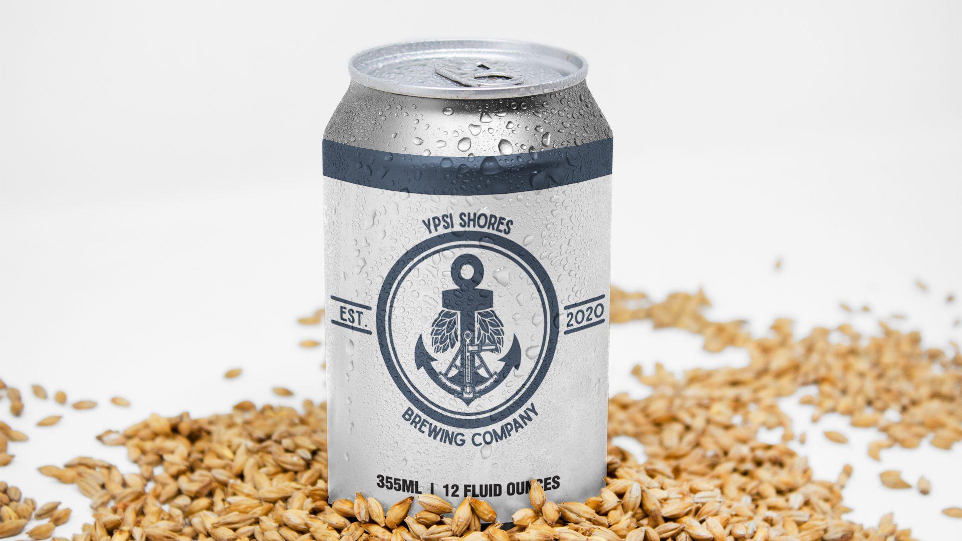 Ypsi Shores Brewing - 16 oz Can Label Mockup 03