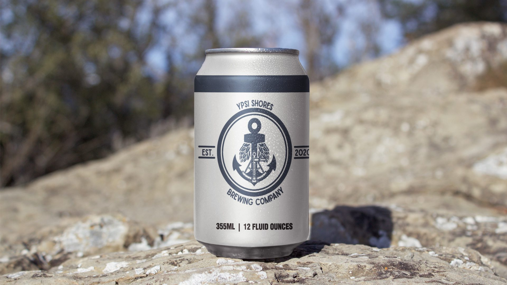 Ypsi Shores Brewing - 16 oz Can Label Mockup 04
