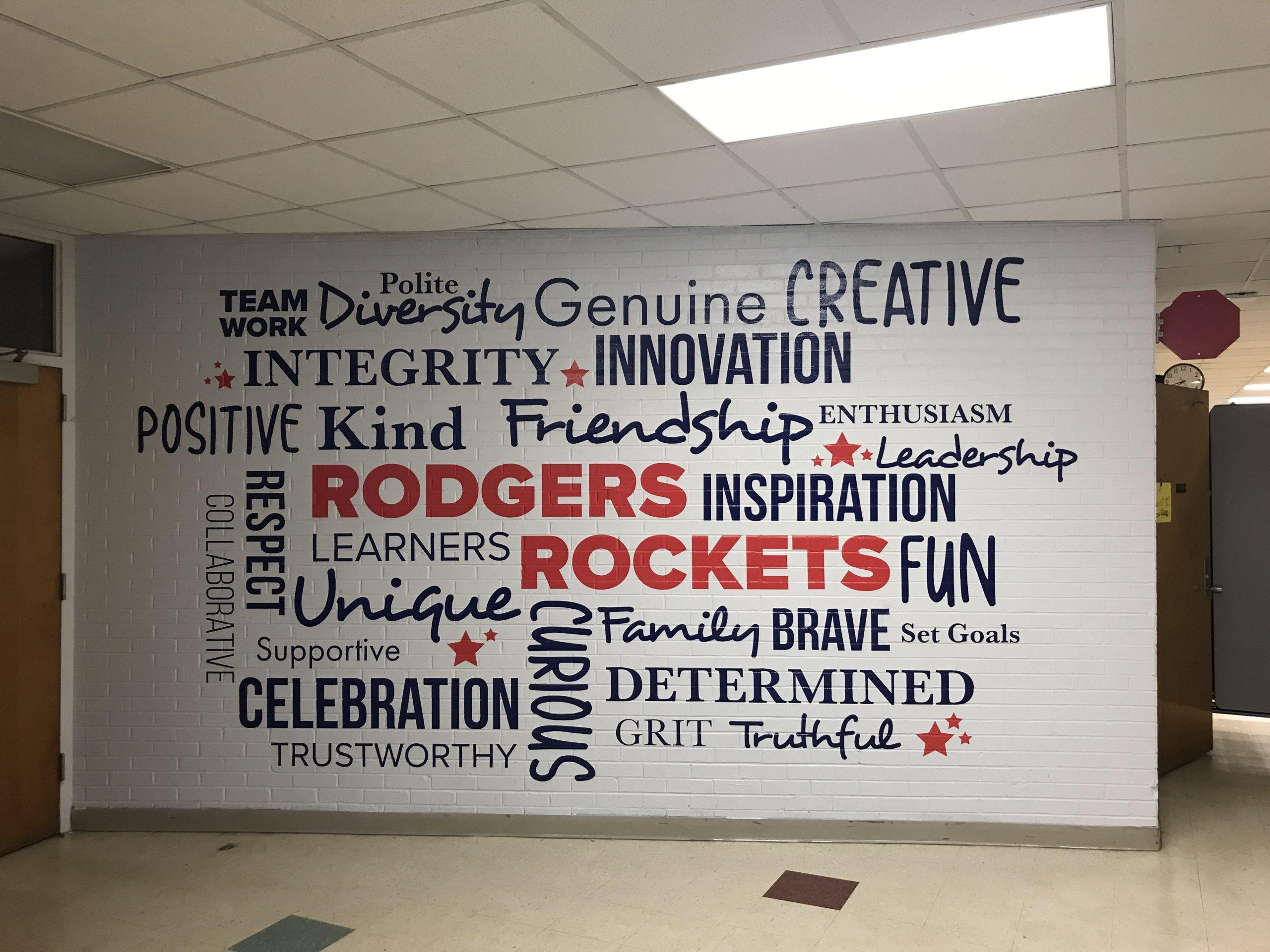 Rogers Elementary Vinyl Word Web