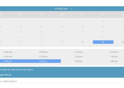 Polar Fitness eCommerce Personal Training Booking Calendar (2)