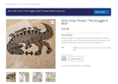 Polar Fitness eCommerce Store Product View (3)
