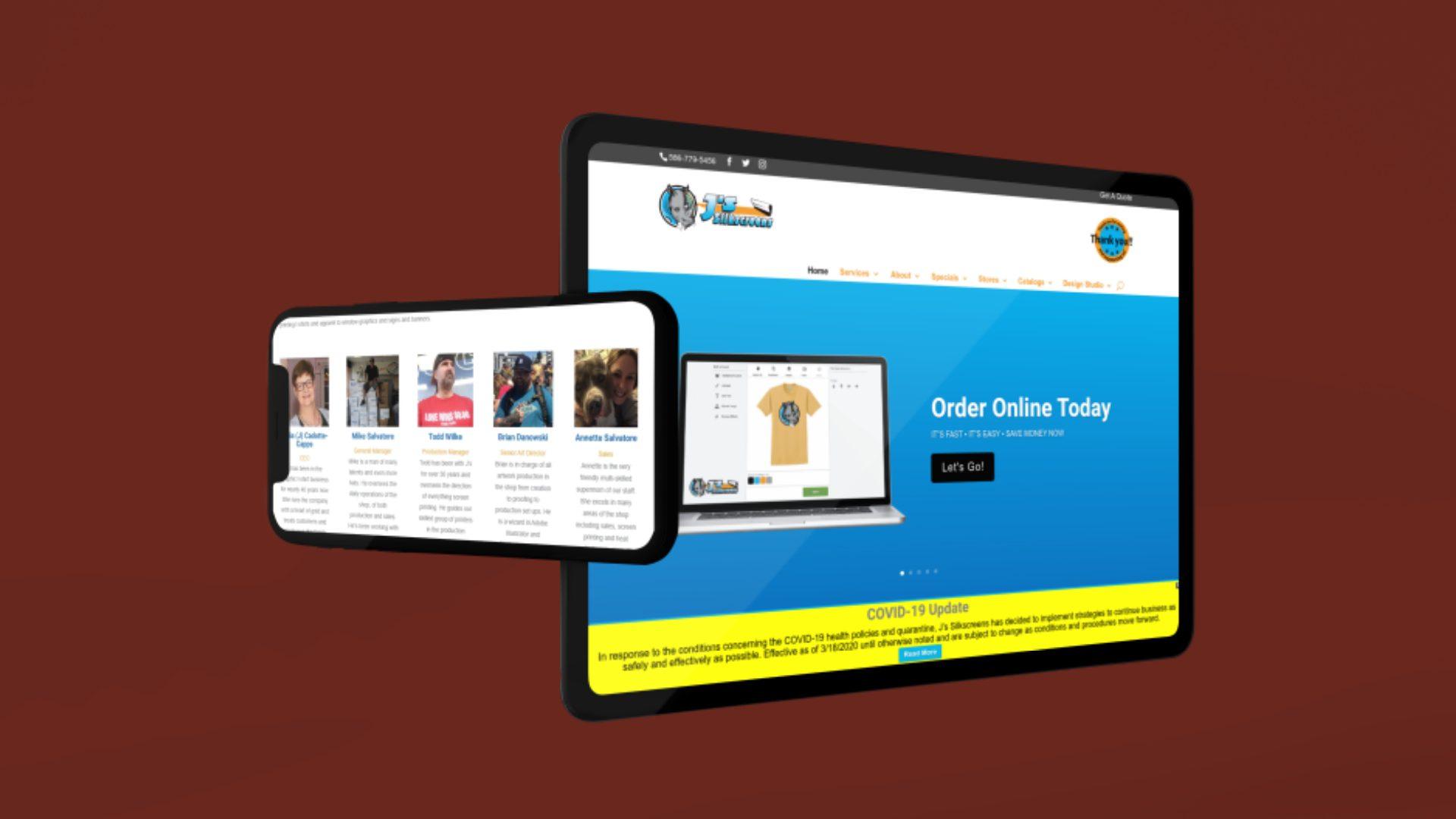 Js Silkscreens Eastpointe - Responsive Website Design (7)