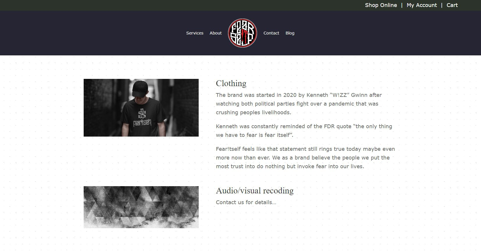 Fear Itself Clothing - Ecommerce Website (4)
