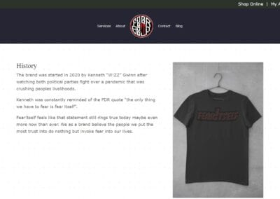 Fear Itself Clothing - Ecommerce Website (5)