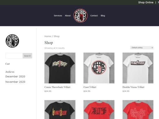 Fear Itself Clothing – eCommerce Website