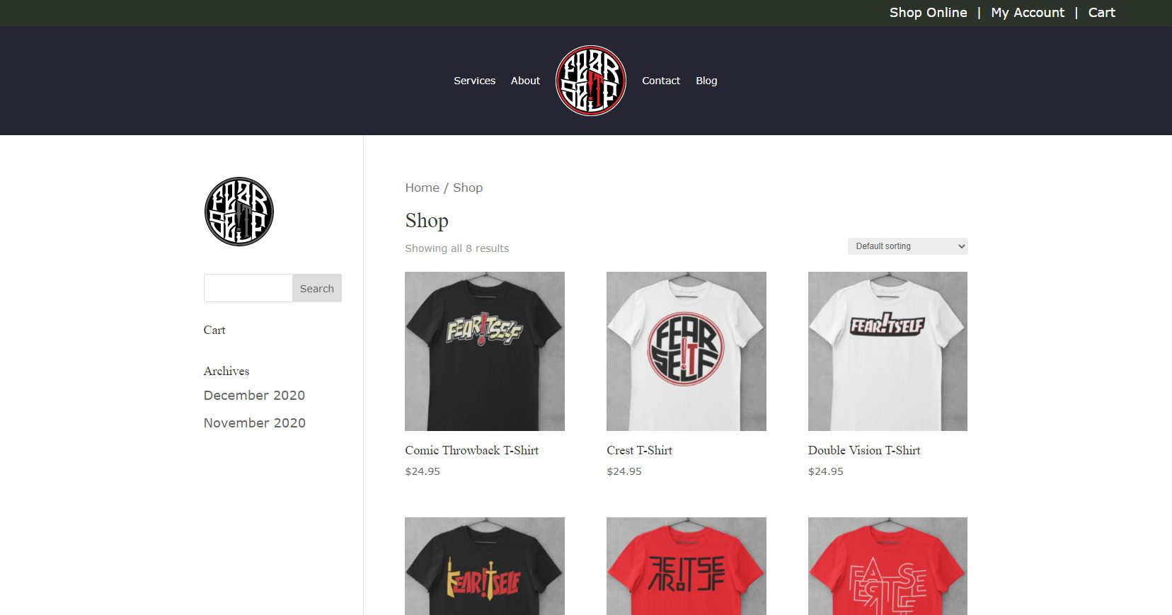 Fear Itself Clothing - Ecommerce Website (7)