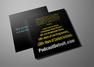 Podcast Detroit – 4×4″ Cards