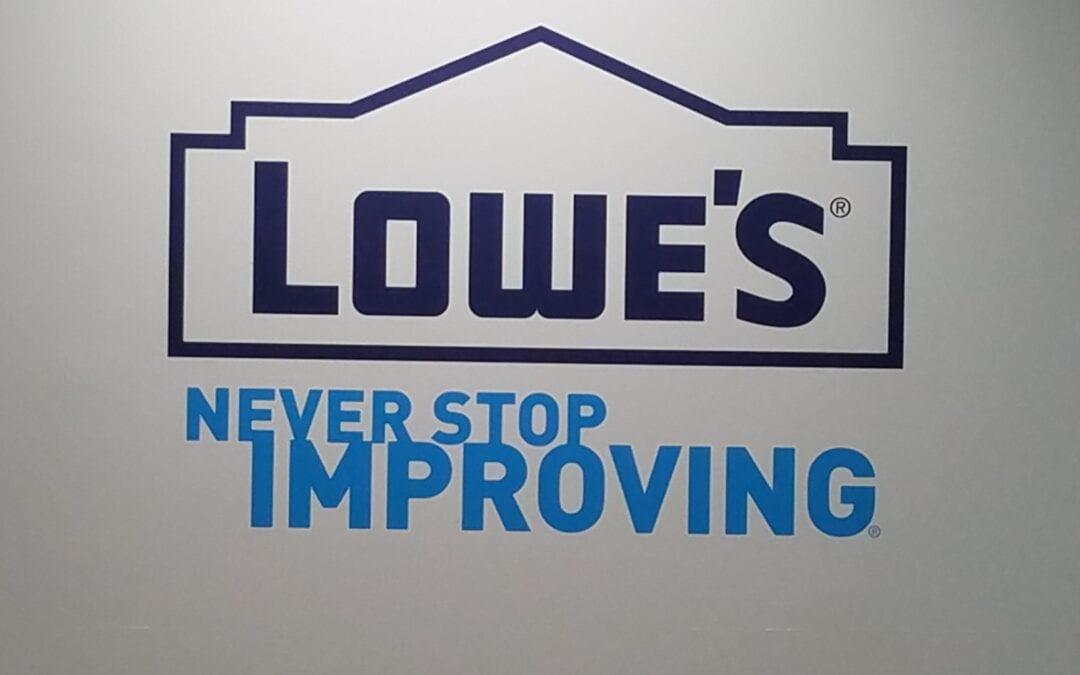 Lowe's – Logo Wall Graphics