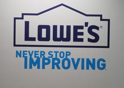 Lowe's – Logo Wall Graphics