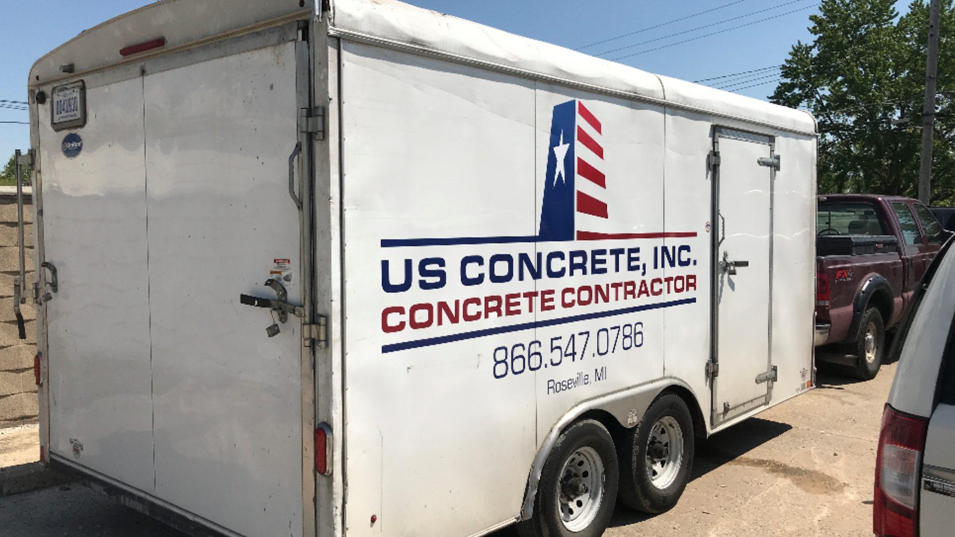 US Concrete - Trailer Vinyl Graphics (1)