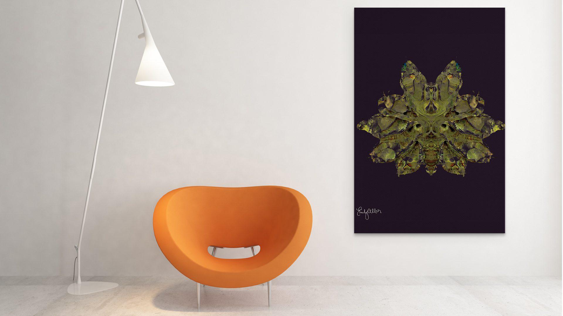 Emily Alber Art - Green Moth Art (1)