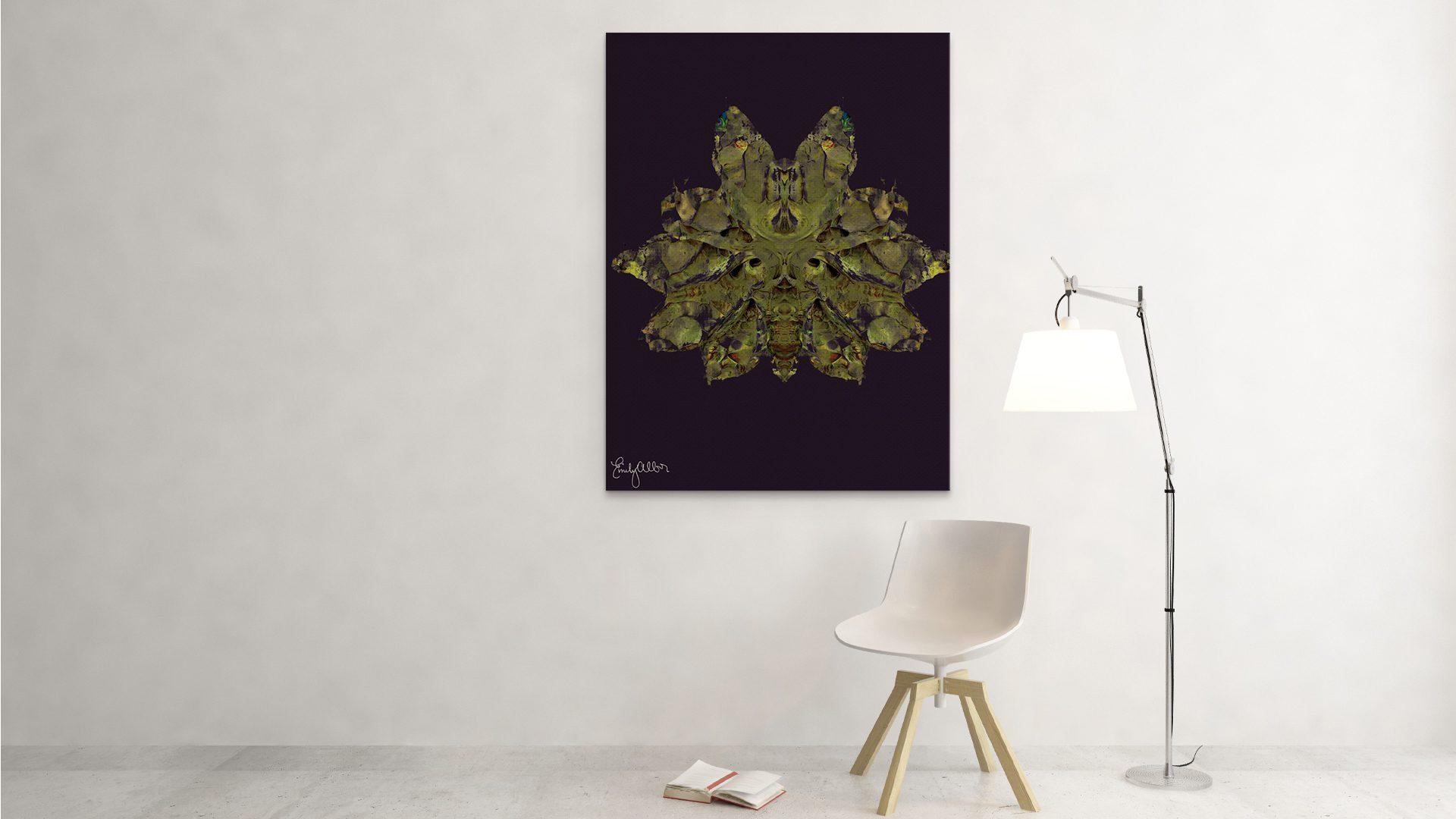 Emily Alber Art - Green Moth Art (2)