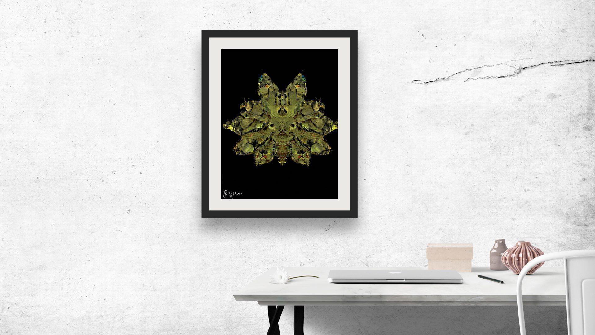 Emily Alber Art - Green Moth Art (3)