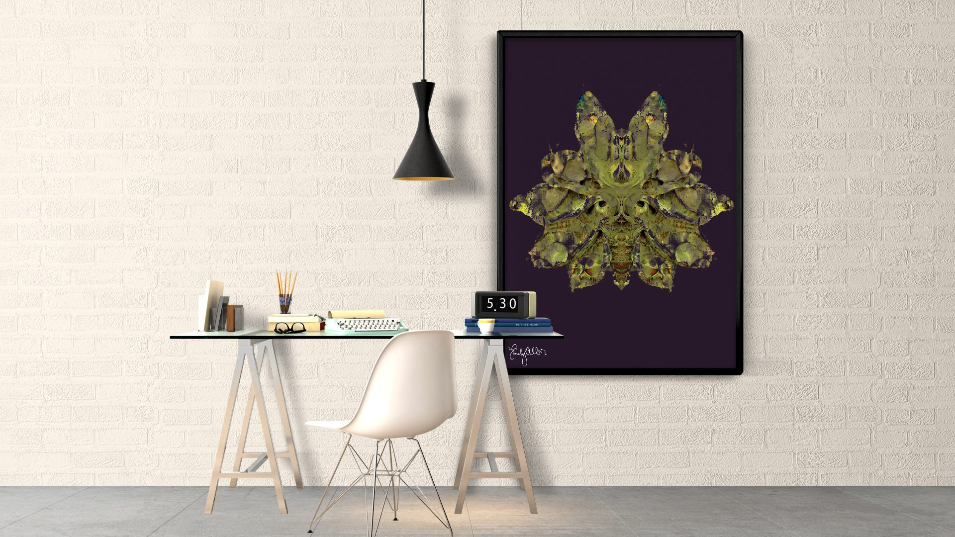 Emily Alber Art - Green Moth Art (4)