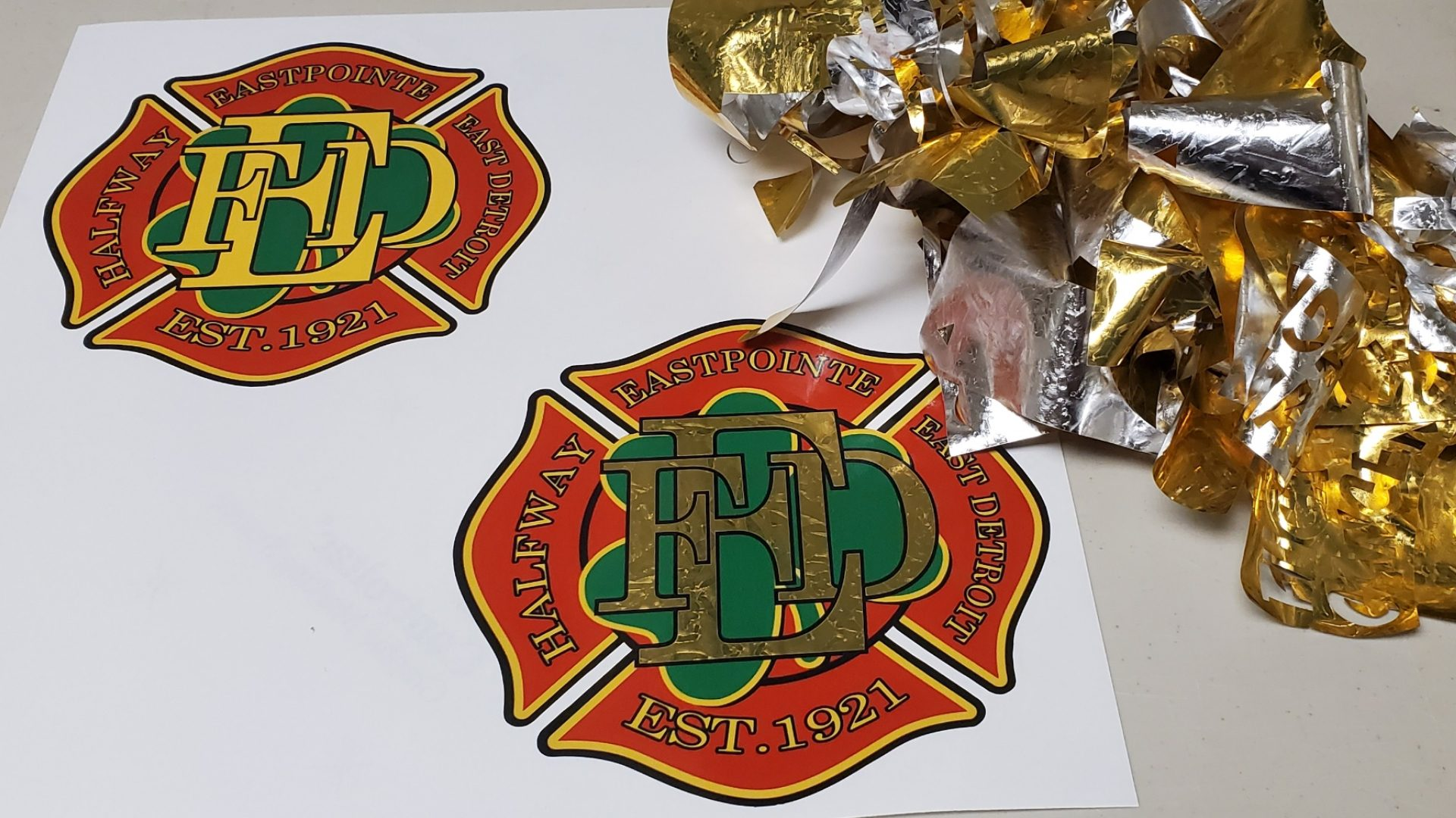 Fire Truck Vinyl Graphic Stickers (7)