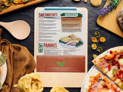 Cloverleaf Restaurant – Menu Inserts