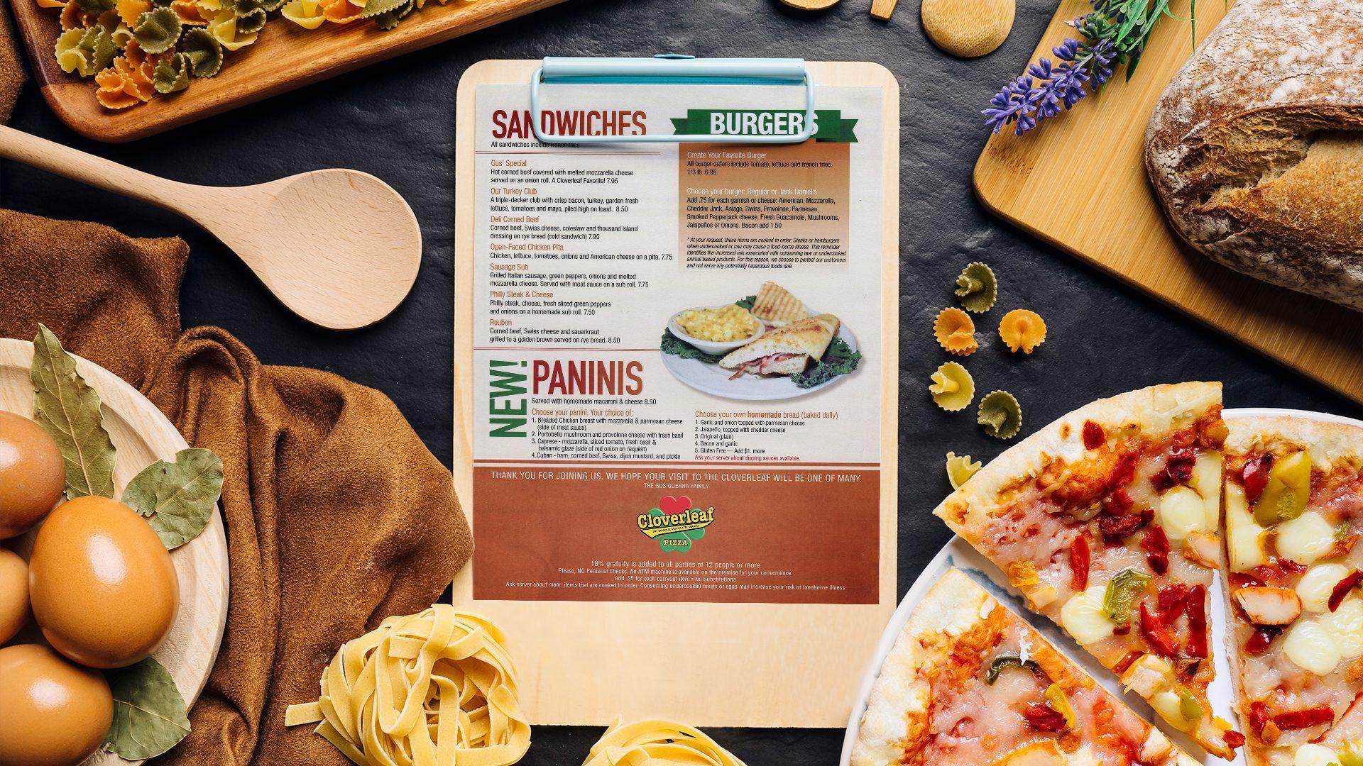 Restaurant Menu Graphic Design 3