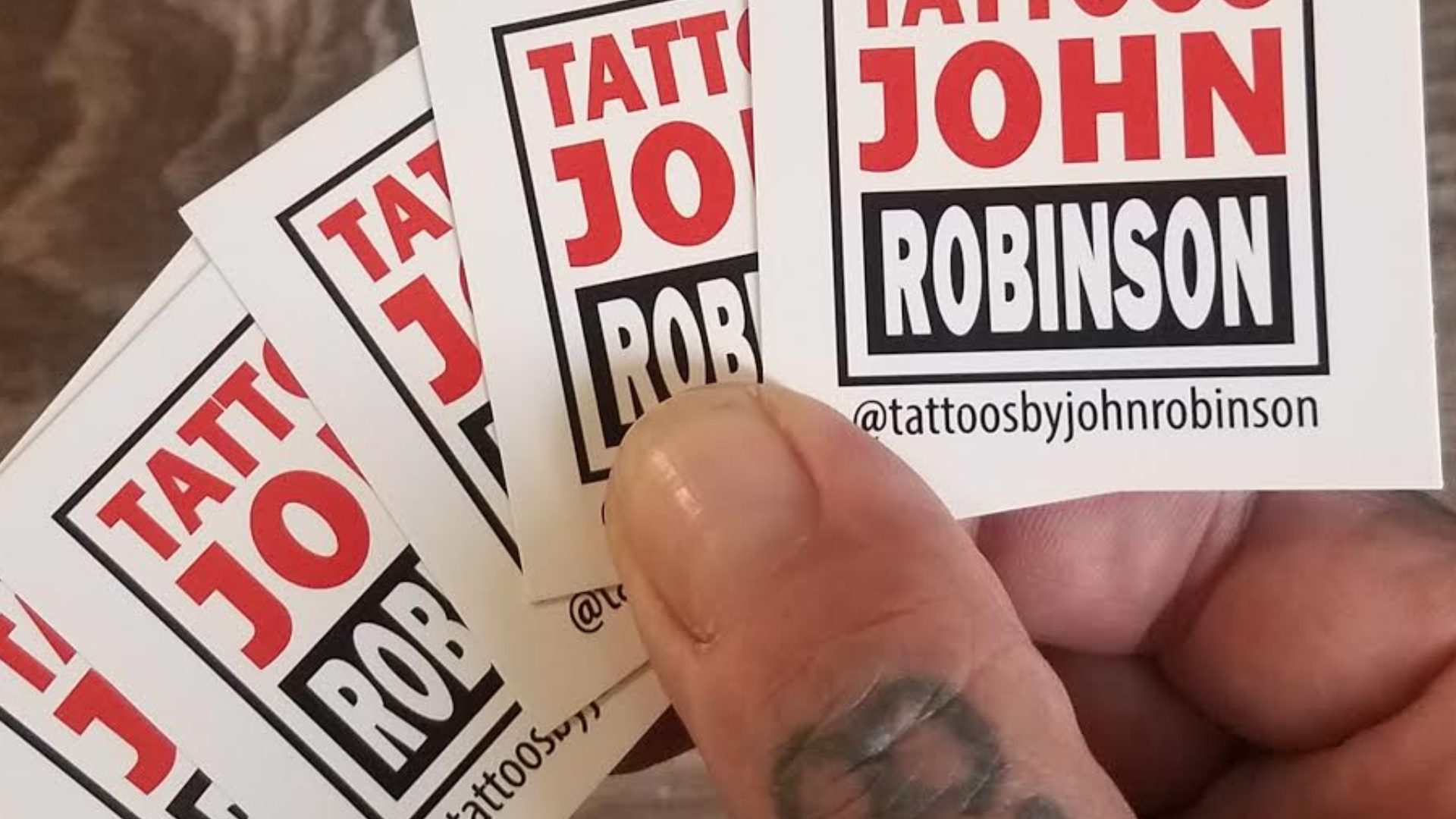 Square Business Cards for Tattoo Artist (4)