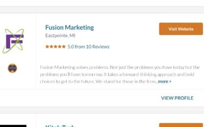 Fusion Marketing Announced as 2021 Local Excellence Award Winner!
