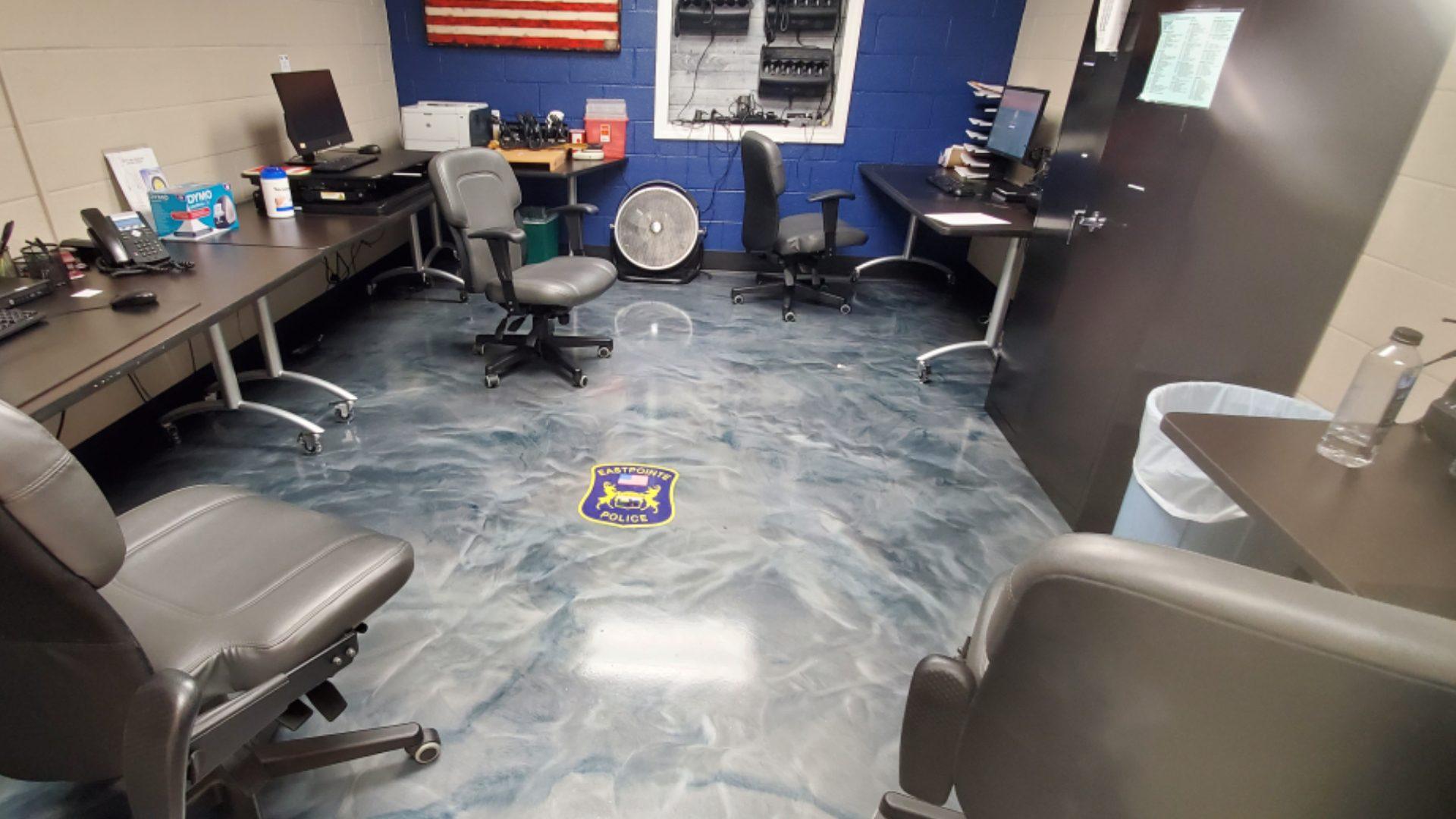 Eastpointe Police Epoxy Floor Graphic 2