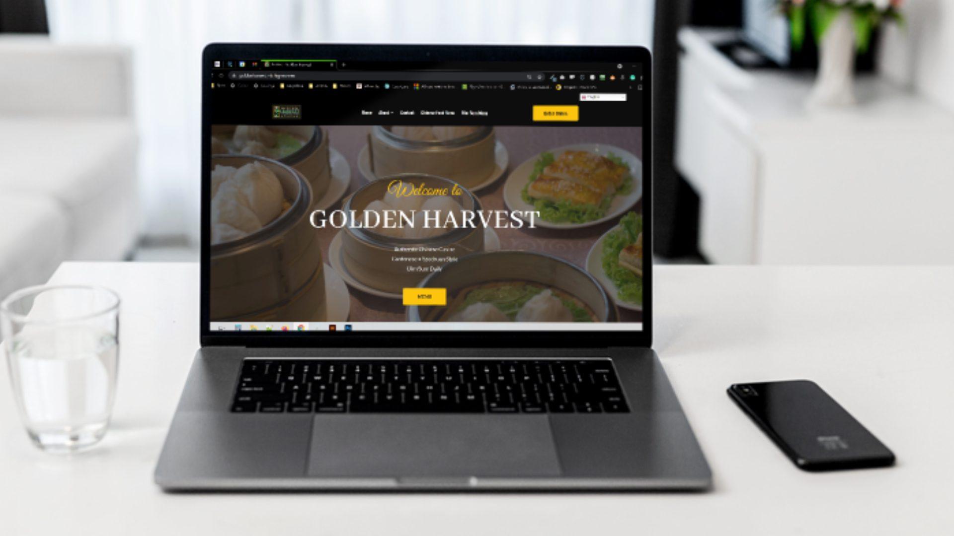 Golden Harvest Website Homepage